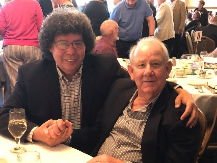 """Bob Miller with Coach Larry """"Cazzie"""" Casbon in 2019"""