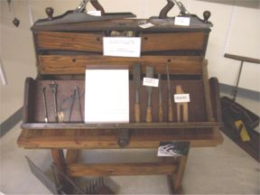 tool chest used by George Samuelson