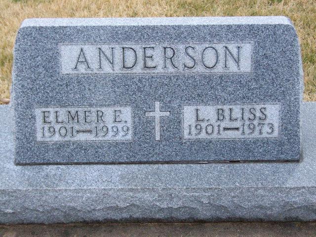 ANDERSON Elmer E. dod 1999 & L. Bliss dod 1973 DSCF1854.JPG