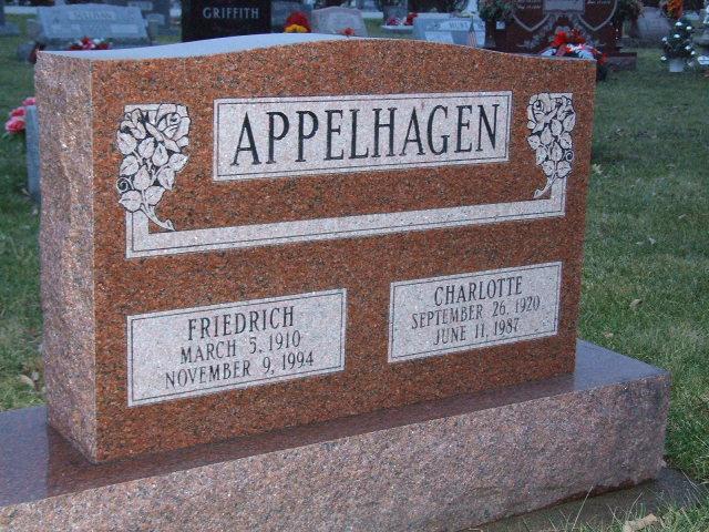APPELHAGEN Friedrich dod 1994 & Charlotte dod 1987 DSCF2238.JPG