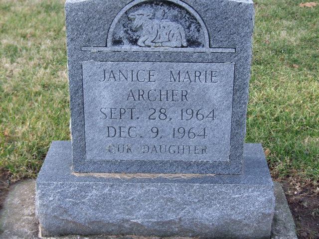 ARCHER Janice Marie dod 1964 DSCF1196.JPG