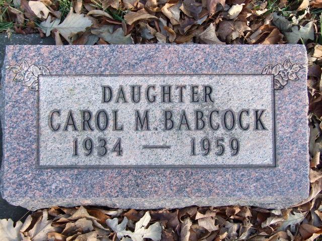 BABCOCK Carol M. DOD 1959 S15 .JPG