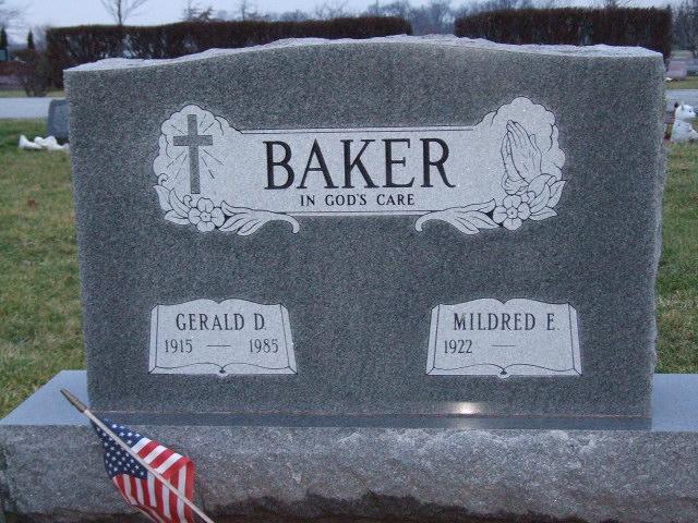 BAKER Gerald D. dod 1985 & Mildred E. dod unknown DSCF2196.JPG