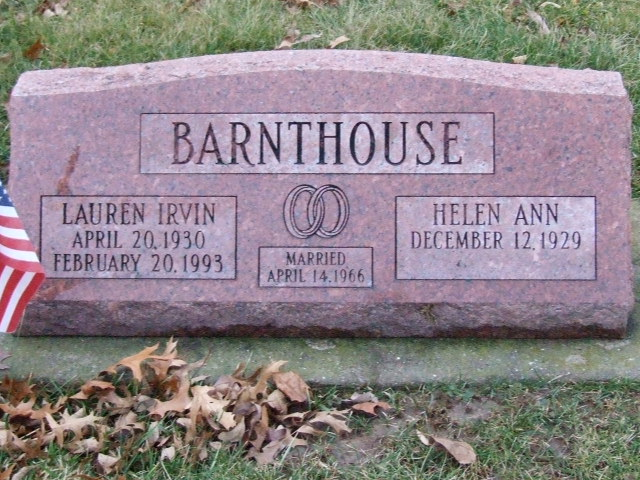 BARNTHOUSE Lauren Irvin dod 1993 & Helen Ann dod unknown DSCF1996.JPG
