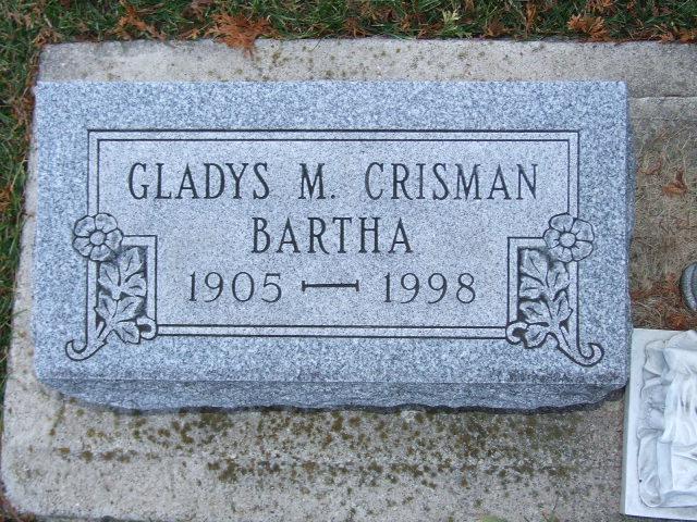 BARTHA CRISMAN  Gladys M. dod 1998 ABC 0676.JPG