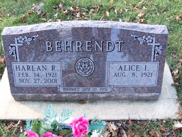 BEHRENDT Harlan R. dod 2001 & Alice I. alive.JPG