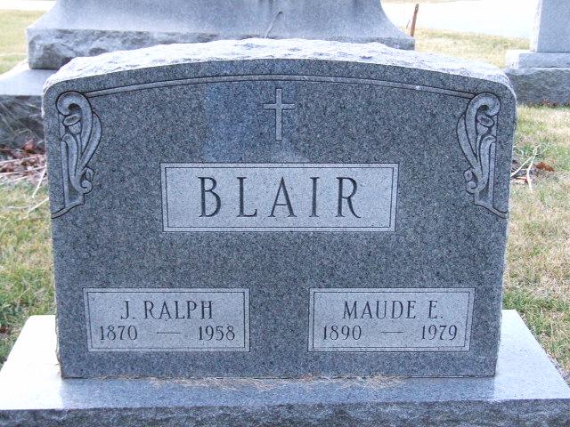 BLAIR J. Ralph dod 1958 & Maude E. dod 1979 0936 .JPG
