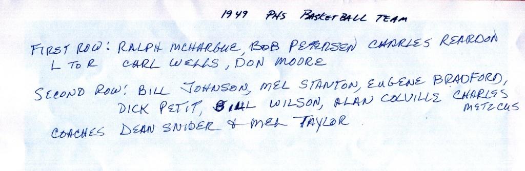 1949 PHS Basketball Team names.jpg