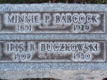 BABCOCK Minnie P. dod 1929 & Iris B. Buczkowski dod 1950 0930 .JPG