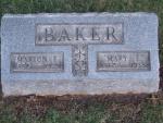 BAKER Marion F dod 1929 & Mary E. dod 1938 0845 .JPG